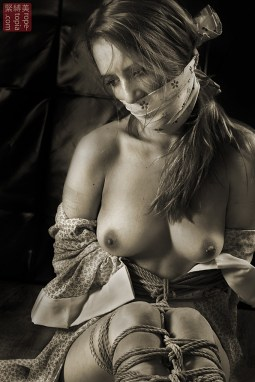 Bound ashamed and helpless. Kinbaku.