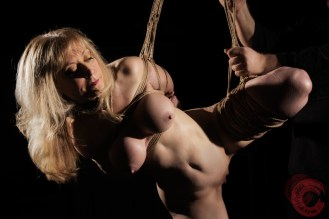 Porn Legend Nina Hartley in Shibari suspension bondage. Image Clover, Rope by WykD Dave #WykDRope