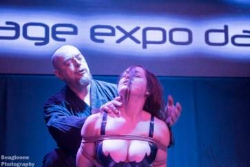 Shibari bondage show at the Church after party for Bondage Expo Dallas.