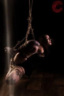 Sophia Shibari in hard exposing suspension with futomomo. beautiful kinbaku, beautiful suffering.