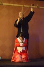 Shibari performance at Bondage Expo Dallas in 2018
