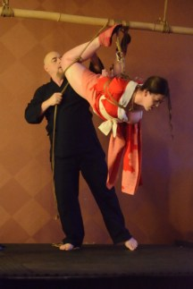 Shibari performance at Bondage Expo Dallas in 2018