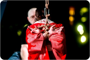 Shibari, Kinbaku performance at BeachBind at Hedonism in Jamica
