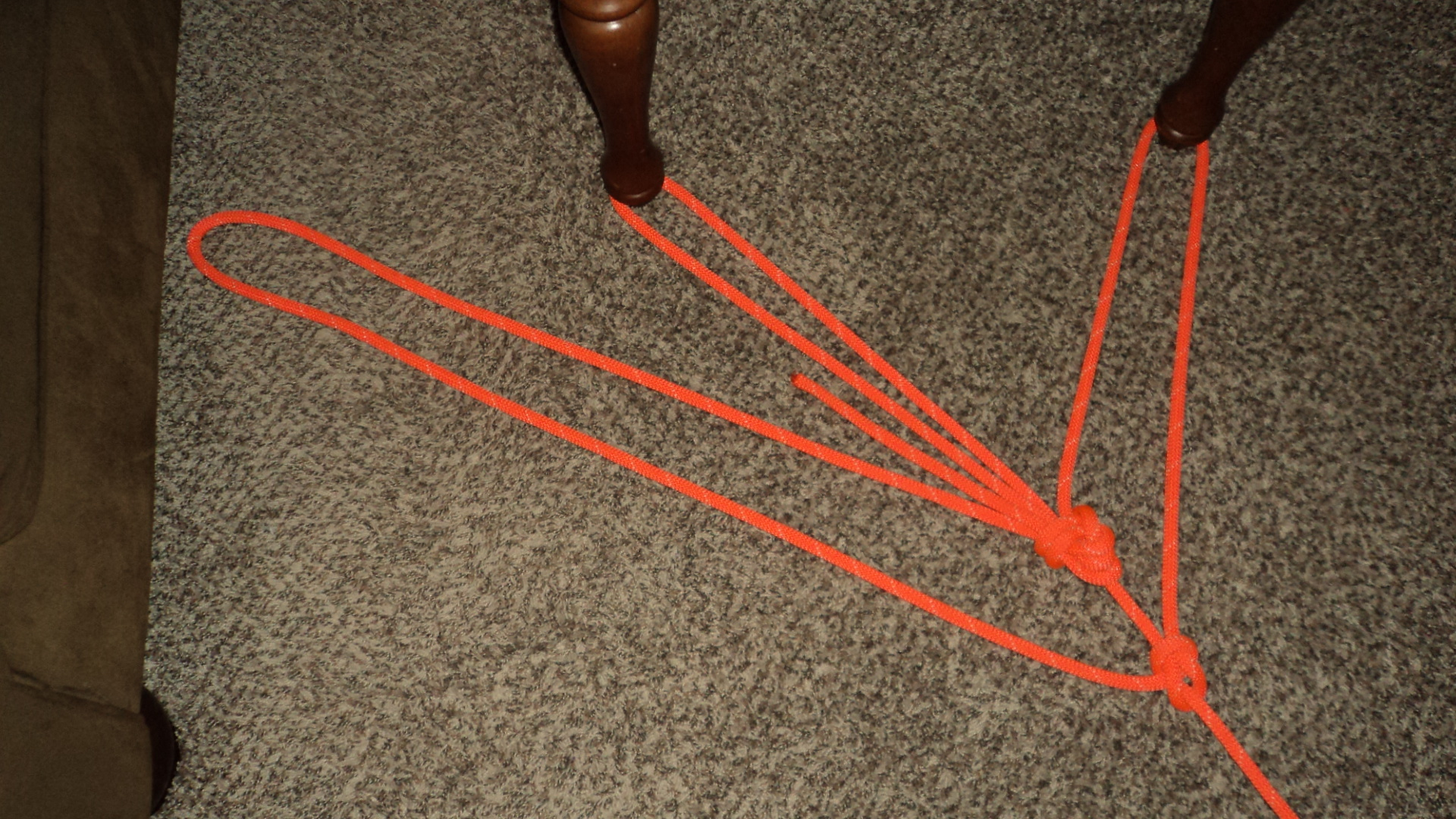 Triple Loop Bowline With A Double Sheet Bend Rope Work 101