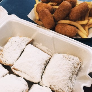 I also like my corn dog nuggets with a side of beignets.