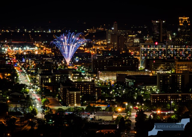 Fireworks over Birmingham by Elyssa