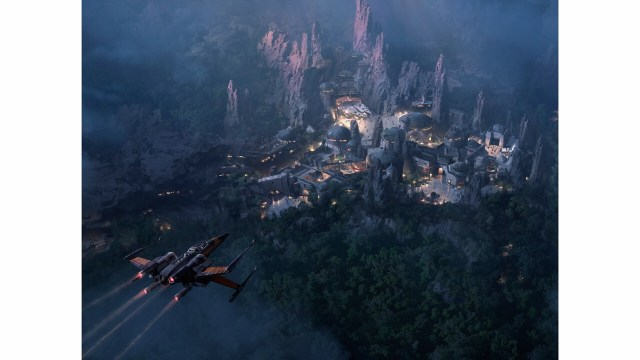 Star Wars Land at Night - Artwork courtesy of Disney