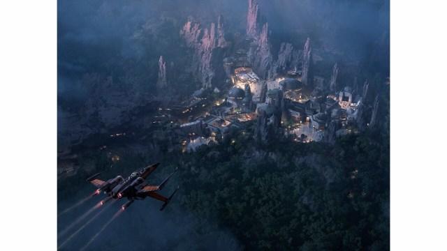 Star Wars Land at Night - Artwork courtesy of Disney