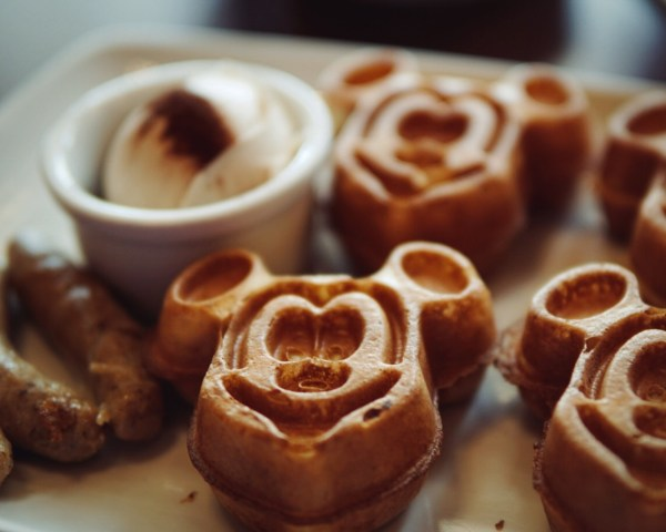 Trattoria Mickey Waffle Breakfast