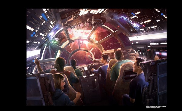 Millennium Falcon Attraction Concept art - © Disney