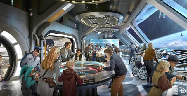 Rendering of the Star Wars Hotel - Copyright Disney