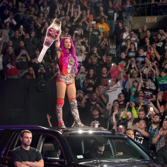 Sasha Banks as WWE Champion (Copyright WWE)