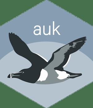auk hex sticker