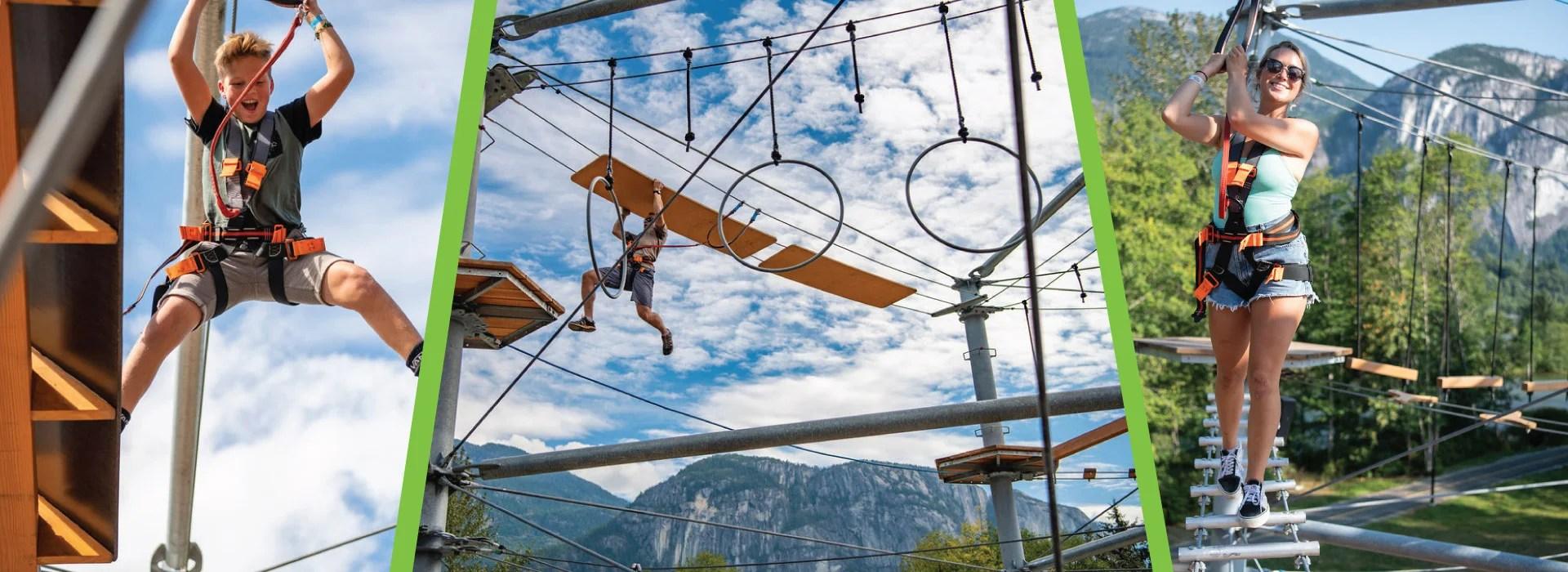 rope runner aerial adventure park squamish banner