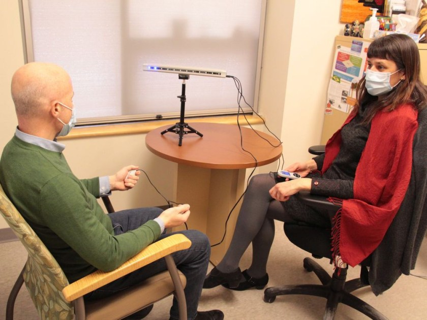 Clinical social worker Anne Bailliu has been using EMDR to treat traumatized former soldiers and RCMP officers sine 2009 at The Royal's Operational Stress Injury Clinic. (Photos: The Royal Ottawa)
