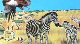 Rory McCann hand painted mural wildlife art school painting (6)