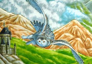 Rory McCann hand painted mural wildlife art school painting (75)