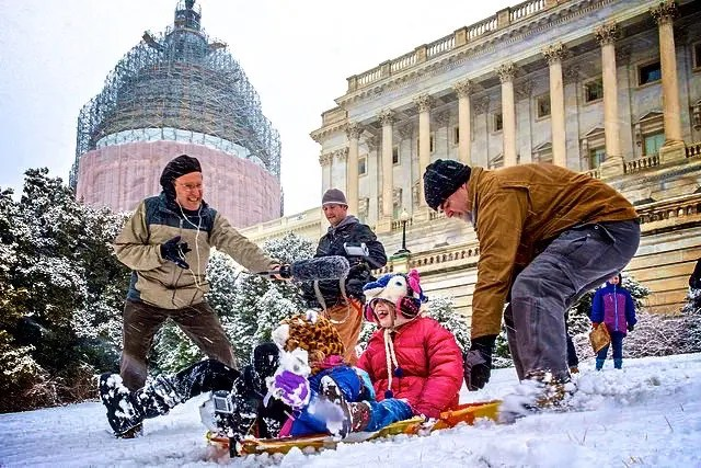 DC takes to the sledding slopes — in protest