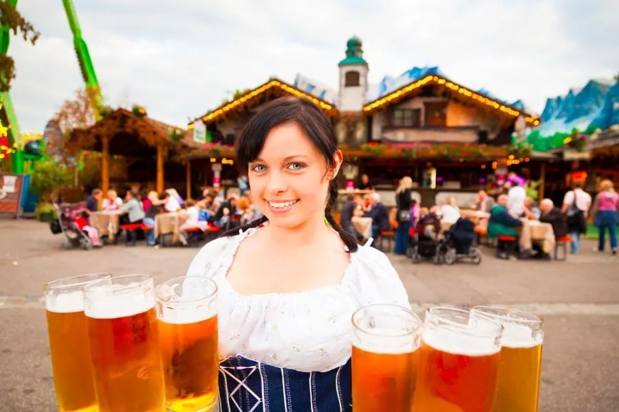 german beer garden waitress