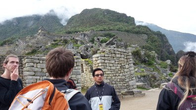 Machu Picchu - our tour guide Conde Travel