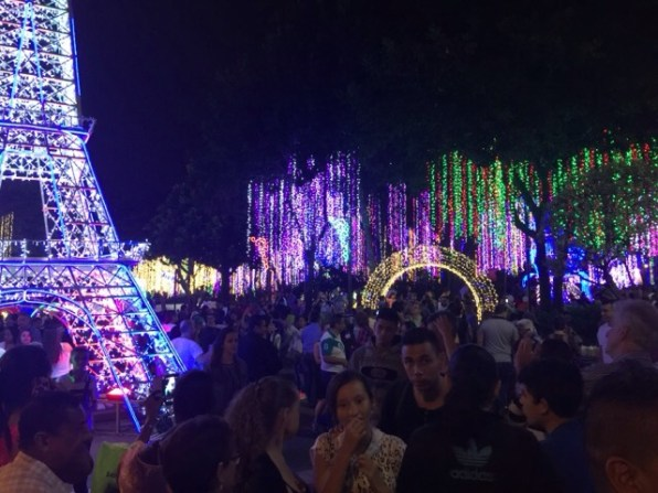 Christmas lights Medellin