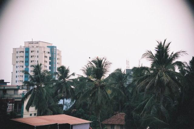 La vue de notre hôtel à Calicut
