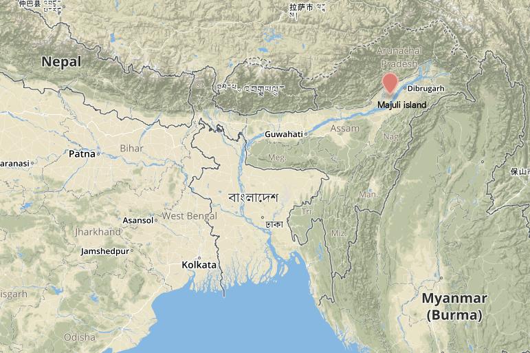 Map MAJULI
