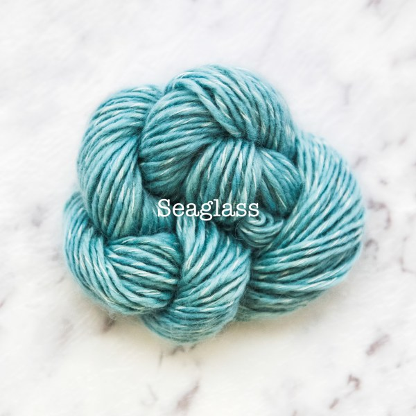 Rosabella TIRAMISU 8 kid merino cotton yarn_SEAGLASS