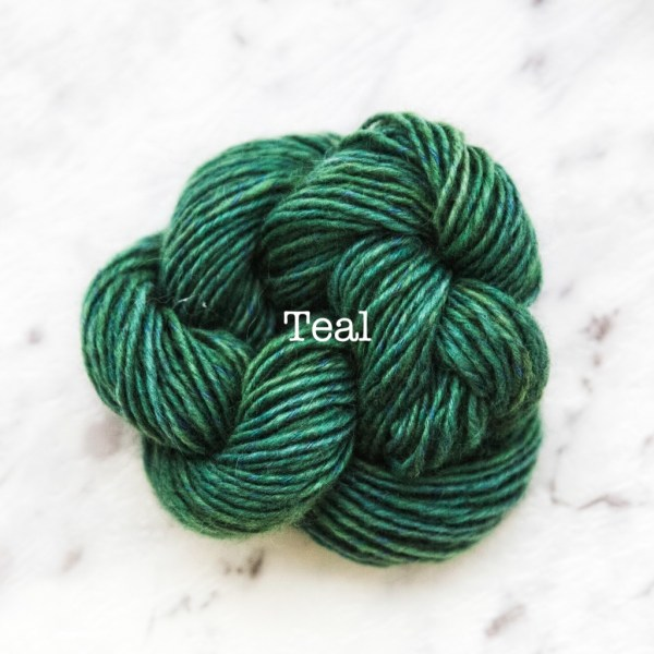 Rosabella TIRAMISU 5 kid merino cotton yarn_TEAL