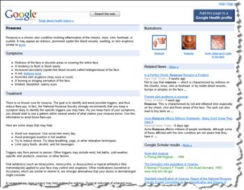 google-health-rosacea