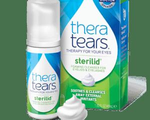 TheraTears Sterilid eyelid scrubs with tea tree oil
