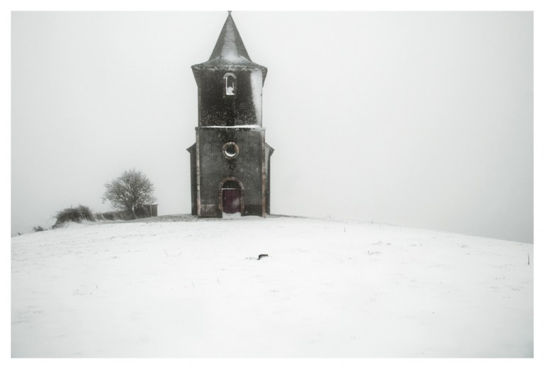 Snow and Church from Black Seasons by Julien Conquentin.j