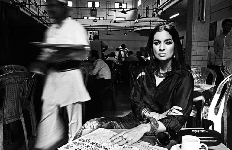 Bikram Bose Portrait of Jhumpa Lahiri, Vogue India