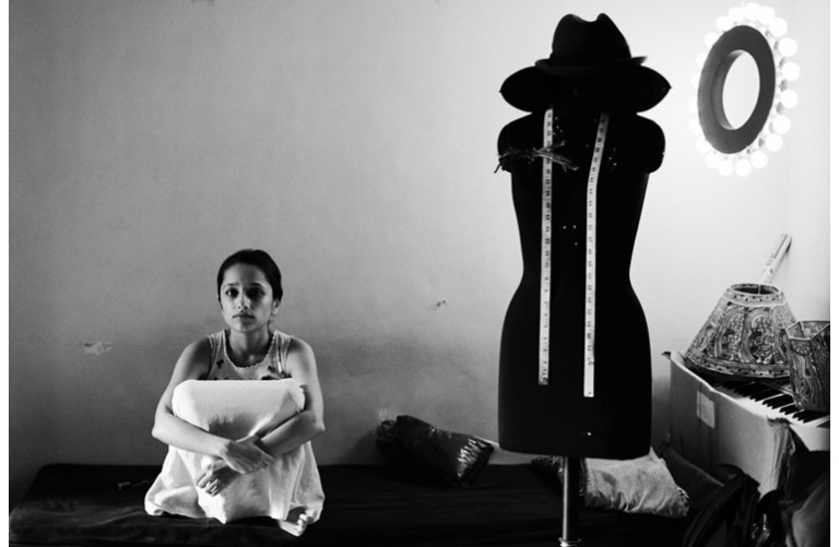 Girl And they all sat down by Bikramjit Bose