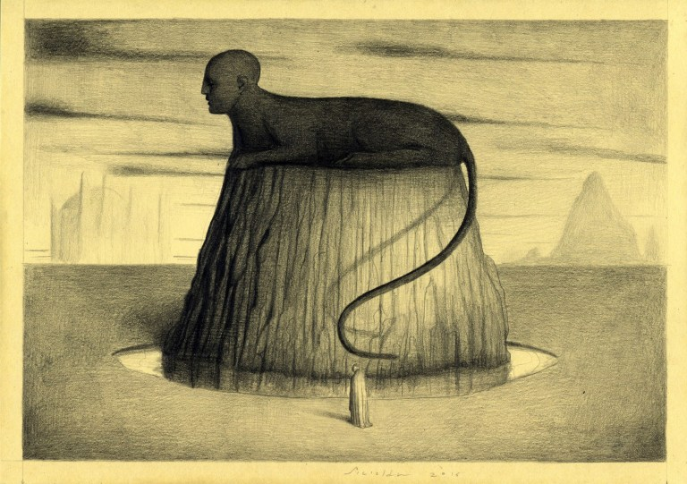 Alessandro Sicioldr Bianchi pencil on paper Oracolo n.3