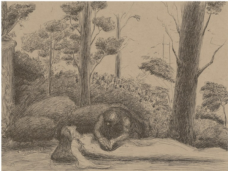 Patrick Facemire Come into the Garden Maude 2015, pen and ink
