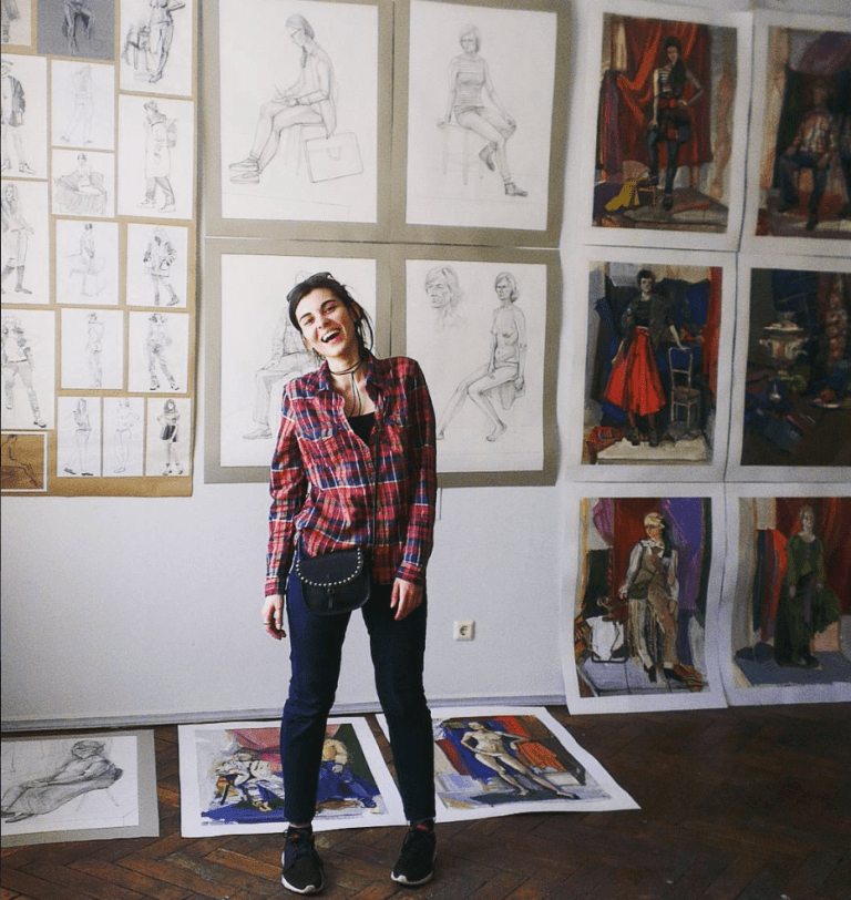 Vlada with work