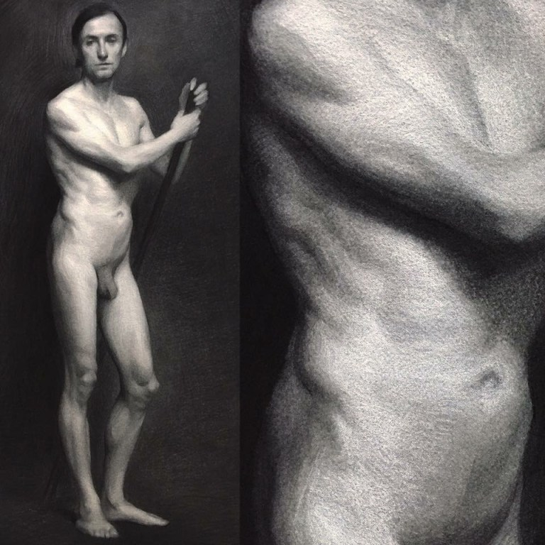 Charcoal, Contemporary-Art, Painters, Painting, Drawing, Creative, New-Art, Art, Artist, Oil-Painting, Realism, Figural-Art, Academic-Art, Nude, Florence, Portraits, Oil-Painting, Isabel-Garmon