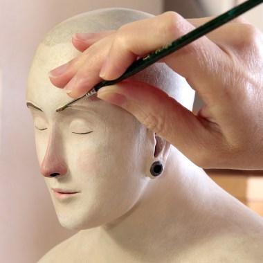 Irma-Gruenholz, atelier, studio, portrait, sculpture, bust, art, artwork, modern-art, contemporary art