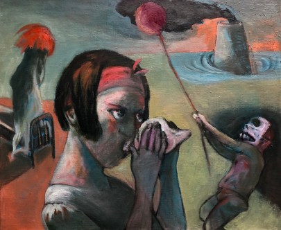 Conch-shell, nuclear-plant, carnival, Painting, Surrealism, Surreal, Surrealist, Ernst, Dali