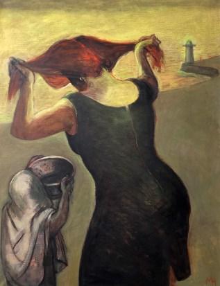 woman, portrait, figuralism, painting, north sea, new-art, woman-painter