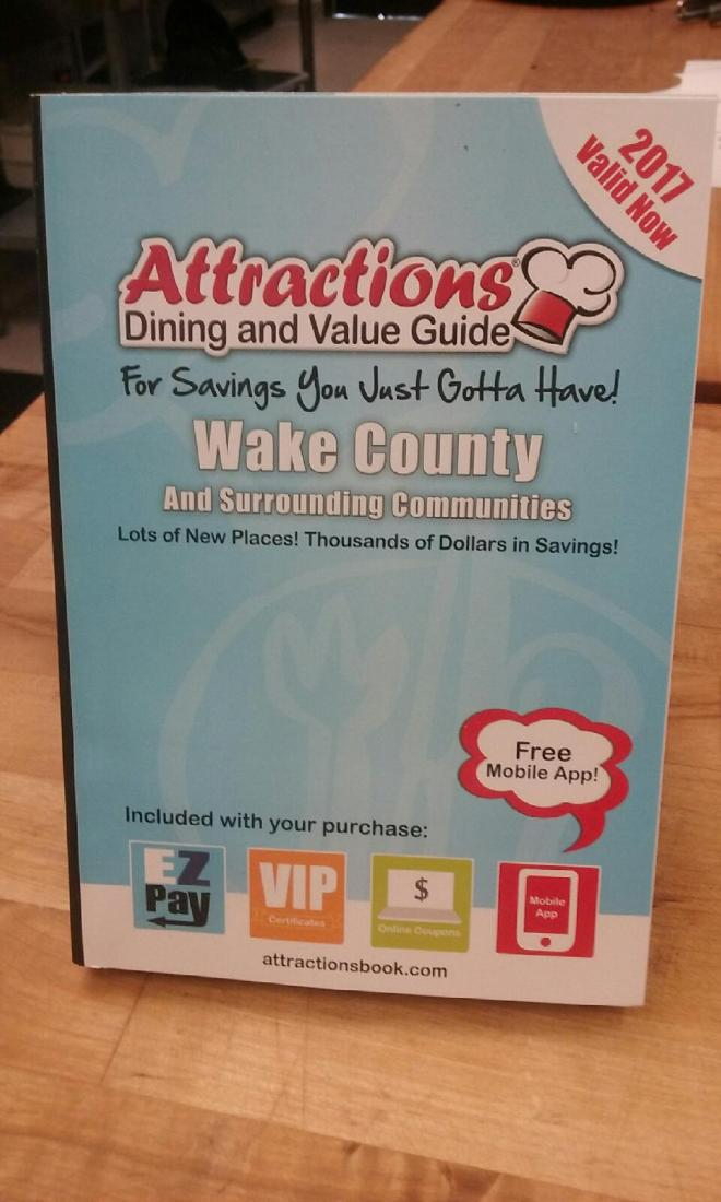 2017 Wake County Attractions book