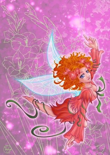 My illustration - Flight of a fairy