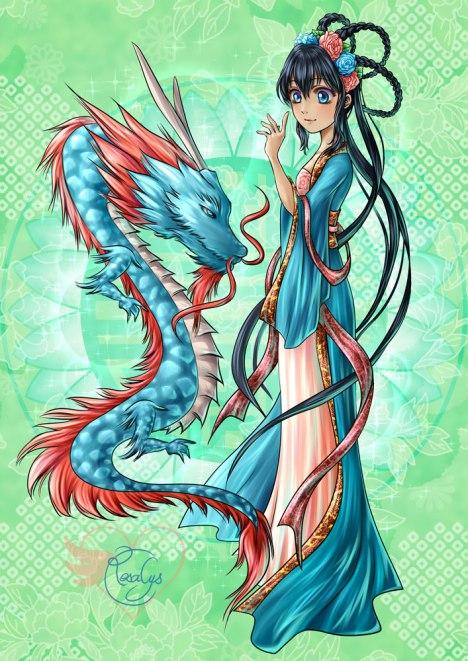 Blue dragon [print]