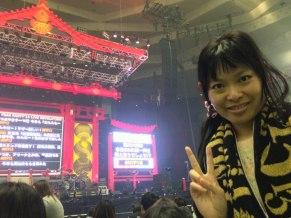 Trop contente, je suis placée dans l'arène juste devant la scène !