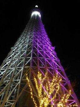Tôkyô Skytree et les illuminations