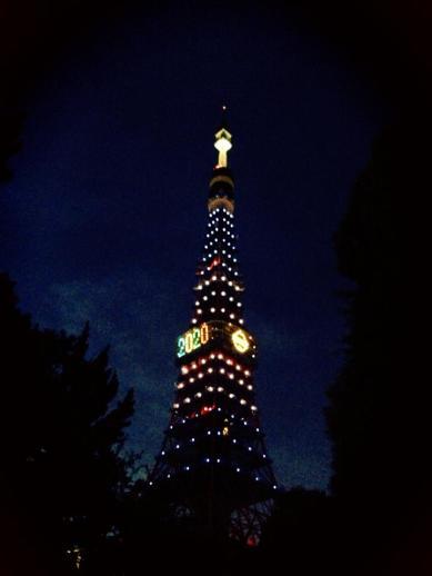 Tôkyô tower de nuit ☆ à fond jeux olympiques #tokyotower #tourdetokyo #東京タワー #tokyo #東京 #japon #japan #日本