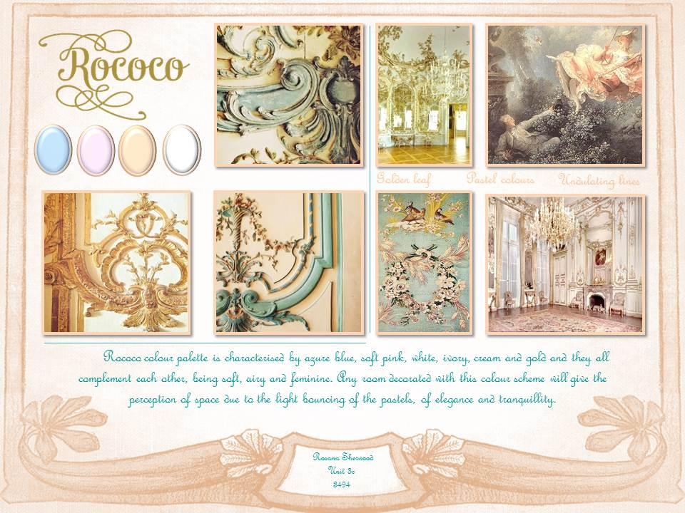 Rococo Colour Scheme Sanaro Designs