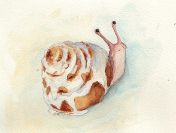 Cinnasnail - Watercolor