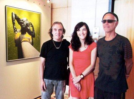 Curador Fernando Durão, Fotógrafo Gal Oppido e a Fotógrafa Rosângela Fialho